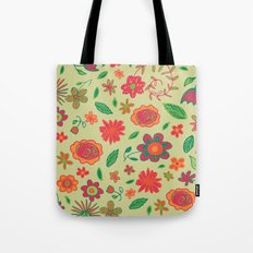 Spring Florals Yellow Tote Bag