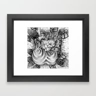 Framed Art Print featuring Safety Nest by Mouseizm