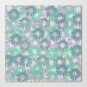 Painterly Embossed Floral Absract Canvas Print