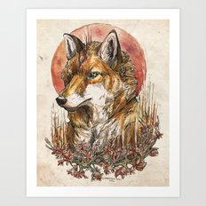 Fire Fox Spirit  Art Print