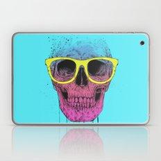 Pop art skull with glasses Laptop & iPad Skin