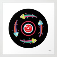 Circles of Gators Art Print