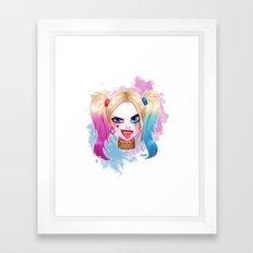 Crazy Harley Framed Art Print