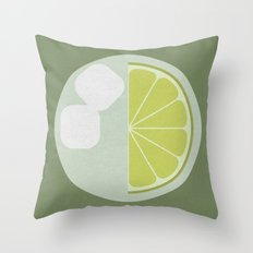 Time for a Drink (clock18) Throw Pillow