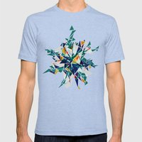 Cracked I Mens Fitted Tee Tri-Blue SMALL