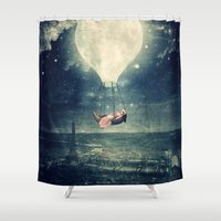 Moon Reverie over Paris Shower Curtain