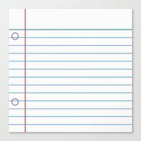 Notebook Paper Canvas Print