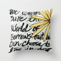 Live In Joy Throw Pillow