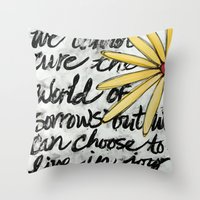 Live in Joy Throw Pillow