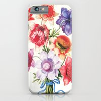 iPhone & iPod Case featuring XI. Vintage Flowers Botanical Print by Pierre-Joseph Redouté - Anemones by Anne Dante
