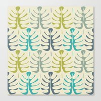 Simple tropical leaves Canvas Print