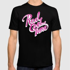 Real Cool Time Black SMALL Mens Fitted Tee