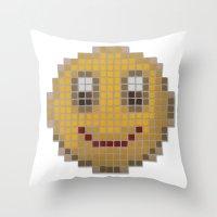 Emoticon Smile Throw Pillow
