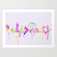 London Skyline Shakespea… Art Print