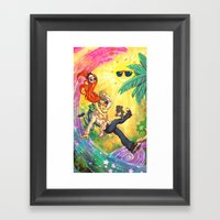 Tropical Wonderland Framed Art Print