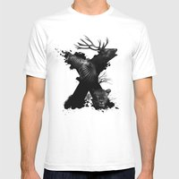 X ANIMALS Mens Fitted Tee White SMALL