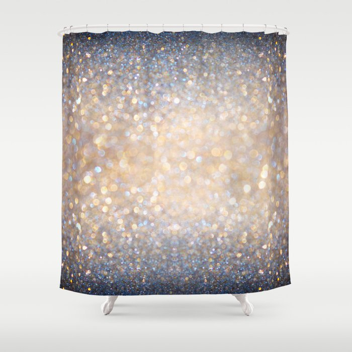 glimmer of light ombr glitter abstract shower curtain