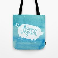 Happy Vegan Tote Bag
