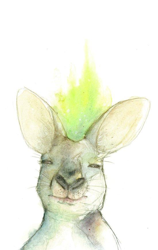 Awkward Kangaroo Art Print