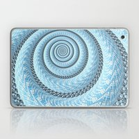 Spiral in Light Blue Laptop & iPad Skin