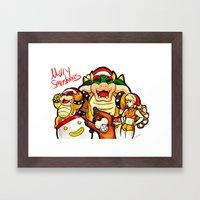 Merry Smashmas Framed Art Print