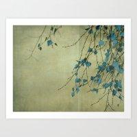 Tree In Blue Art Print