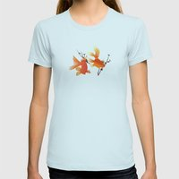 Goldfish Womens Fitted Tee Light Blue SMALL