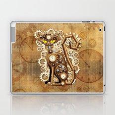 Steampunk Cat Vintage Style Laptop & iPad Skin
