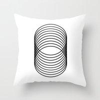 Grid 03 Throw Pillow