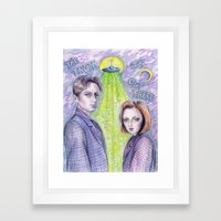 The Truth Is Out There Framed Art Print