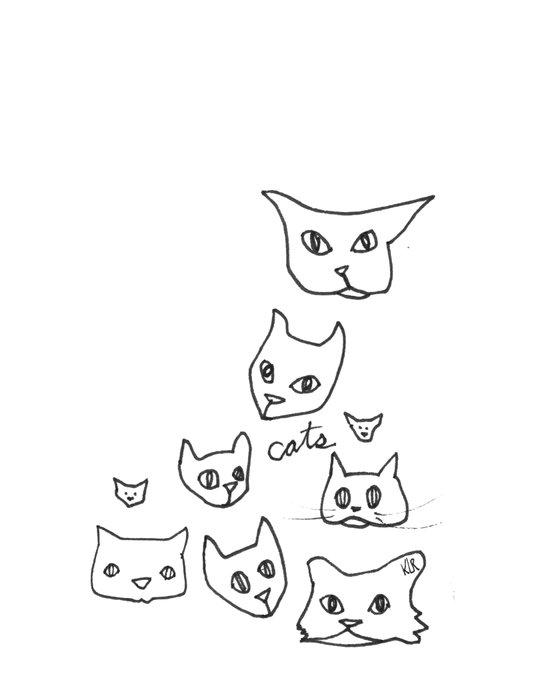 Cats Cat Art Print