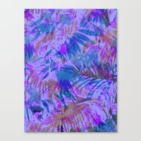 Palmtastic Purple Canvas Print