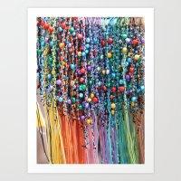 Ribbon & Bells Art Print