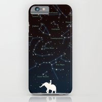 iPhone Cases featuring Falling star constellation by Budi Kwan