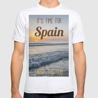 Time For Spain Mens Fitted Tee Ash Grey SMALL
