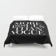Duvet Cover featuring More Issues Than Vogue T… by RexLambo