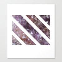 IPHONE: StripedSquareGEO Canvas Print