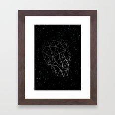 Skull Constellation Framed Art Print