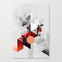 geometric woman Canvas Print