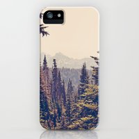 iPhone Cases featuring Mountains through the Trees by Kurt Rahn