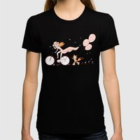 Spring Ride Womens Fitted Tee Black SMALL