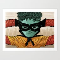 Art Print featuring Superheroes SF by Victor Beuren
