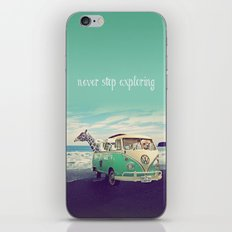 NEVER STOP EXPLORING THE BEACH iPhone & iPod Skin