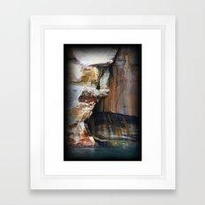 Rocky Crevices Framed Art Print