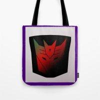 Transformers Generation 1: Rub Sign: Decepticon! Tote Bag