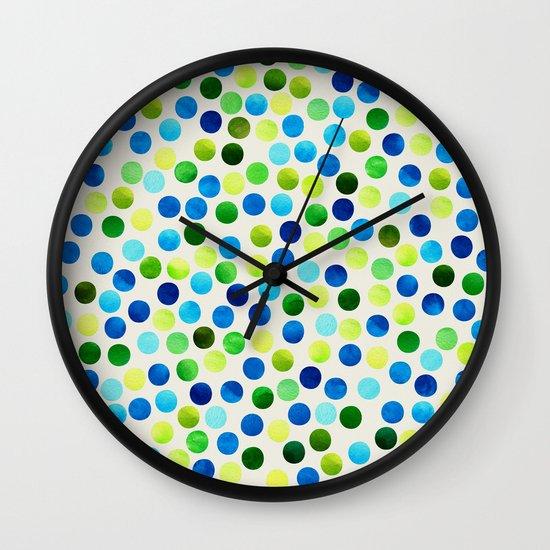 Dance Aqua by Jacqueline Maldonado & Garima Dhawan Wall Clock