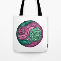 Circle Of Snails Tote Bag