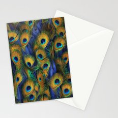 peacock eyes Stationery Cards