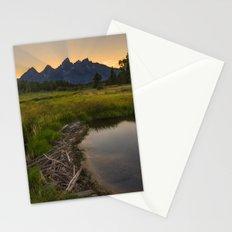 Grant Teton National Park Mountain Sunset Stationery Cards