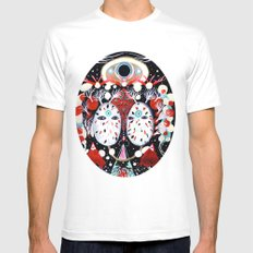 Moondance White SMALL Mens Fitted Tee